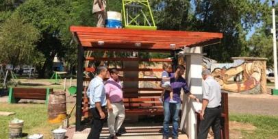 Instalan gabinetes públicos con energía solar