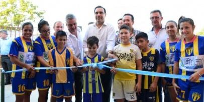 Optimista visita del gobernador Valdés a Bella Vista