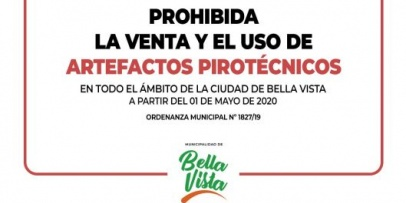 Prohíben la venta y uso de pirotecnia