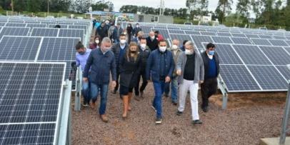 Inauguraron la primera Central de Energía Solar Fotovoltáica